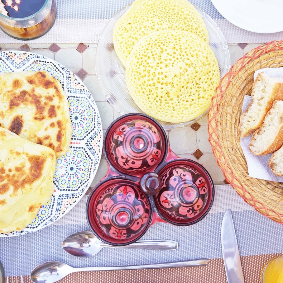 Delicious Moroccan's breakfast